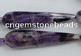 CDA33 15.5 inches 12*50mm faceted teardrop dogtooth amethyst beads