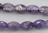 CDA333 15.5 inches 10*14mm faceted rice dyed dogtooth amethyst beads