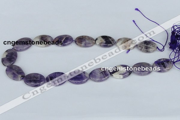 CDA72 15.5 inches 18*25mm oval dogtooth amethyst beads wholesale