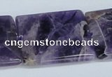 CDA79 15.5 inches 35*35mm square dogtooth amethyst beads wholesale