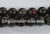 CDB253 15.5 inches 12mm round natural dragon blood jasper beads