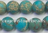 CDE1027 15.5 inches 8mm round matte sea sediment jasper beads