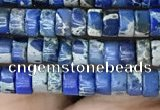 CDE1228 15.5 inches 2.5*4mm heishi sea sediment jasper beads