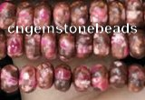 CDE1358 15.5 inches 2.5*4mm rondelle synthetic sea sediment jasper beads