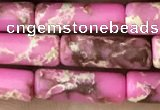 CDE1474 15.5 inches 4*13mm tube synthetic sea sediment jasper beads