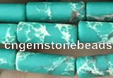 CDE1476 15.5 inches 4*13mm tube synthetic sea sediment jasper beads