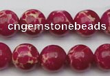 CDE2037 15.5 inches 12mm round dyed sea sediment jasper beads