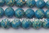 CDE2161 15.5 inches 8mm faceted round dyed sea sediment jasper beads