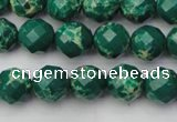 CDE2200 15.5 inches 6mm faceted round dyed sea sediment jasper beads