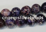 CDE364 15.5 inches 12mm round dyed sea sediment jasper beads
