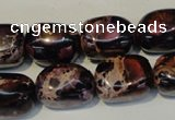 CDE395 15.5 inches 12*16mm nugget dyed sea sediment jasper beads