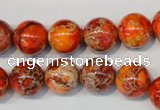 CDE494 15.5 inches 12mm round dyed sea sediment jasper beads