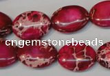CDE646 15.5 inches 15*20mm oval dyed sea sediment jasper beads