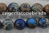 CDE815 15.5 inches 12mm round dyed sea sediment jasper beads wholesale
