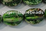 CDE966 15.5 inches 18*25mm star fruit shaped dyed sea sediment jasper beads
