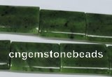 CDJ134 15.5 inches 18*25mm flat tube Canadian jade beads wholesale