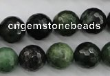CDJ265 15.5 inches 14mm faceted round Canadian jade beads wholesale