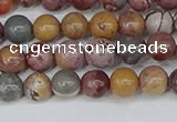 CDJ401 15.5 inches 6mm round sonoran dendritic jasper beads