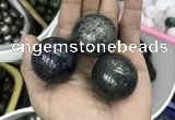 CDN14 35mm round pyrite gemstone decorations wholesale