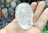 CDN550 35*50*40mm skull white crystal decorations wholesale