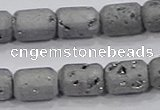 CDQ600 8 inches 6*8mm drum druzy quartz beads wholesale