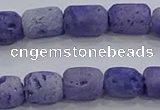 CDQ602 8 inches 6*8mm drum druzy quartz beads wholesale