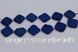 CDQ666 8 inches 25*25mm diamond druzy quartz beads wholesale
