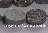 CDQ711 8 inches 13*18mm oval druzy quartz beads wholesale