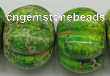 CDT150 15.5 inches 25*34mm pumpkin dyed aqua terra jasper beads