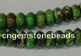 CDT927 15.5 inches 6*10mm rondelle dyed aqua terra jasper beads