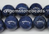 CDU106 15.5 inches 16mm round blue dumortierite beads wholesale