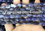 CDU216 15.5 inches 8*12mm faceted oval blue dumortierite beads