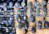 CDU221 Top drilled 8*12mm faceted briolette dumortierite beads