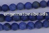 CDU301 15.5 inches 6mm round matte blue dumortierite beads