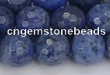 CDU326 15.5 inches 12mm faceted round blue dumortierite beads