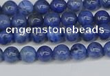 CDU340 15.5 inches 4mm round blue dumortierite beads wholesale