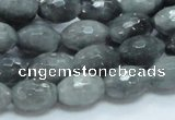 CEE28 15.5 inches 10*16mm faceted rice eagle eye jasper beads