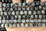 CEE542 15.5 inches 8mm round eagle eye jasper gemstone beads
