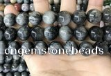 CEE545 15.5 inches 14mm round eagle eye jasper gemstone beads