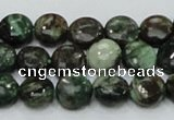 CEM02 15.5 inches 10mm flat round emerald gemstone beads wholesale