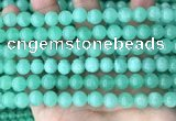 CEQ302 15.5 inches 8mm round green sponge quartz beads