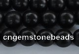 CEY04 15.5 inches 10mm round black ebony wood beads wholesale