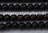 CEY51 15.5 inches 6mm round ebony wood beads wholesale
