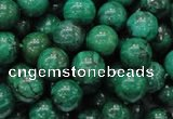 CFA68 15.5 inches 10mm round green chrysanthemum agate beads