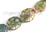 CFC19 15*20mm oval 15.5 inches fossil coral  beads Wholesale