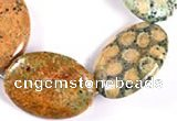 CFC21 15.5 inches 22*30mm oval fossil coral  beads Wholesale