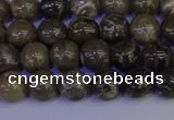 CFC211 15.5 inches 6mm round grey fossil coral beads wholesale