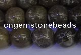 CFC215 15.5 inches 14mm round grey fossil coral beads wholesale
