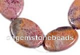 CFC31 15.5 inches 18*25mm oval fossil coral  beads Wholesale