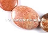 CFC43 25*35mm oval 15 inches fossil coral beads Wholesale
